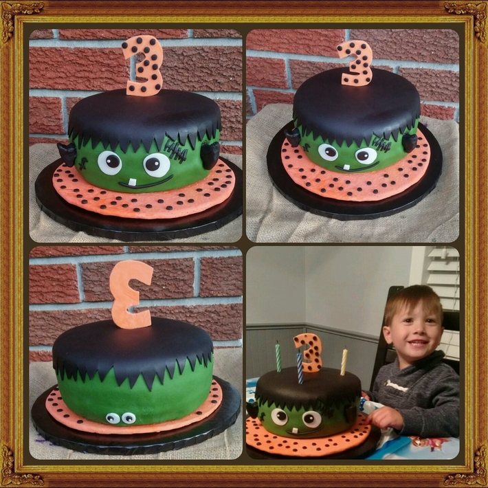 Frankenstein Birthday Cake for Carlos