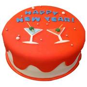 cheers new year cake