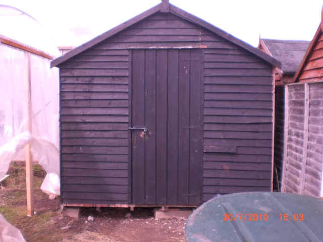 my friend bought a new shed so i got this one for free, 10 foot by 8 foot