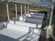 Lined troughs