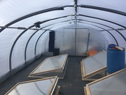 hoop greenhouse with cold frames