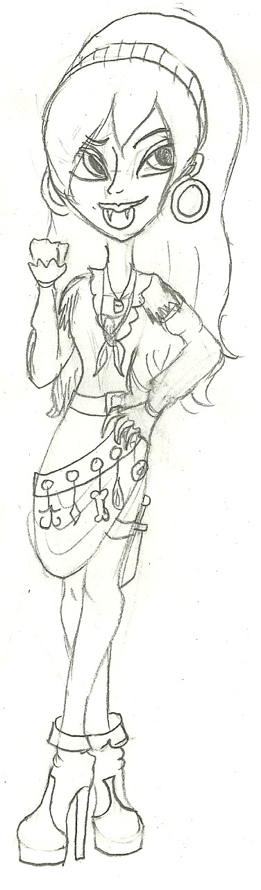Gift Sketch #1: Yo ho, yo ho, a vampirate's life for me.