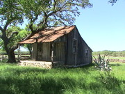 Old cabin at Mt Gainor Texas
