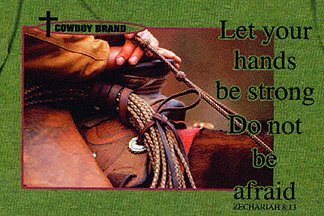 Let your hands be strong. Do not be afraid.