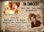 Gail Cogburn & Jan Harbuck in CONCERT - Branson, MO