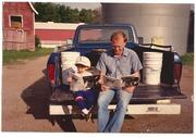 Lasting memories, my oldest son Isaiah and I looking at our ranch ad, 1989