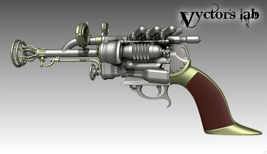 Steampunk Pistol Vyctor's lab 4