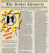 Be A Feature Story in The Aether Chronicle!!