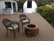 The new deck and setup.