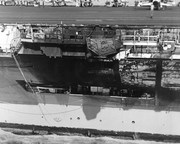 November 23,1975 Big John CV-67 the day after colliding with the Belknap.