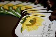 Sunflower Wedding Invitation Favor Tags