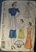 Simplicity 2800 including sewing apron, copyright 1939