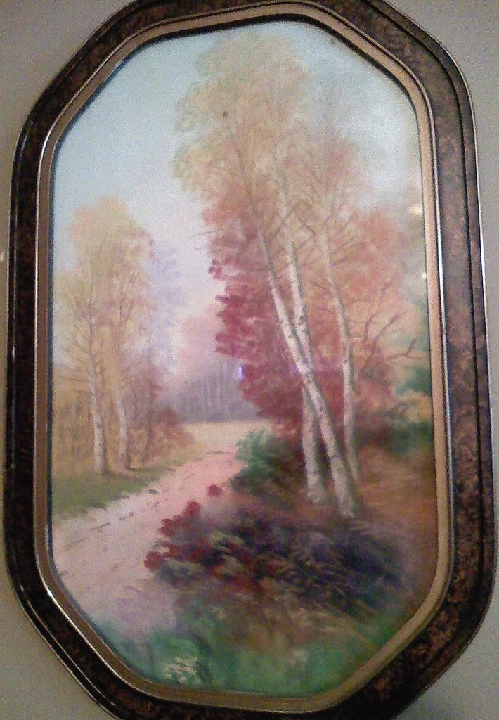 vintage pastel landscape