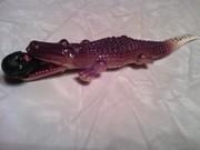 novelty souvenier celluloid pencil set black boy in alligator