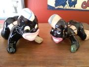 "1940's brayton laguna pottery ""little joe"" dice players"