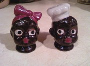 black chef & mammy s&p set