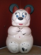 minnie mouse side turnabout cookie jar