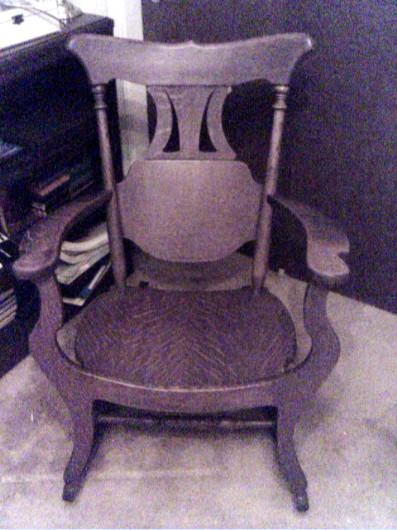 oak rocking chair 2
