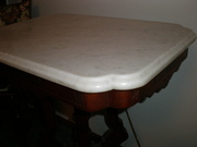 Marble Top Table side shot 2