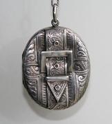Victorian Silver Buckle Locket