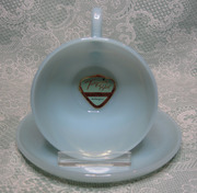 Turquoise Fire-King Cup & Saucer