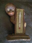 vintage black americana thermometer