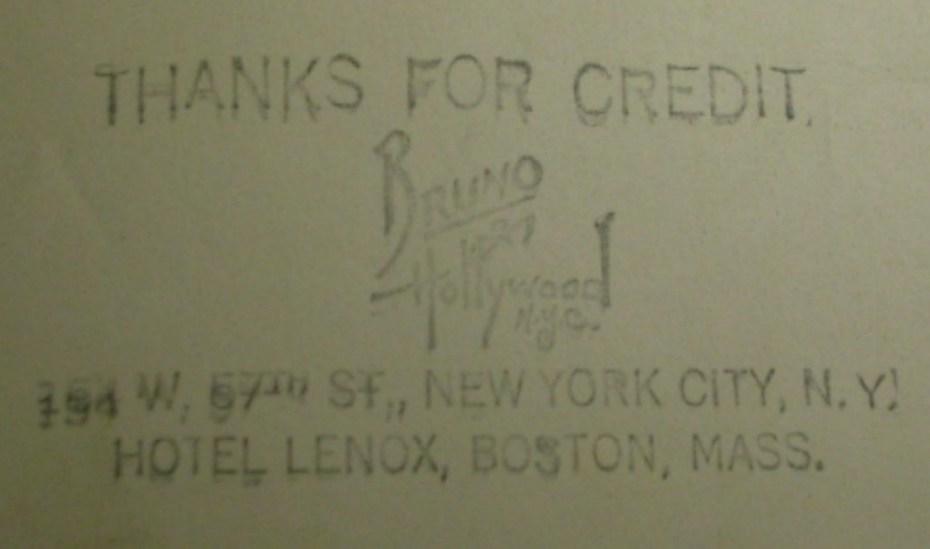 Signed Bee Kalmus Photo ,Bruno Of Hollywood