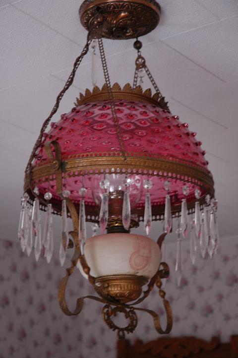 Fenton hopnob oil lamp