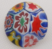 Vintage Millefiore Glass Button