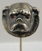 Sterling Bulldog Stick Pin