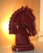 1950's Gonder Chess Horse Head TV Lamp