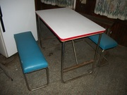 Retro Folding Bench Table
