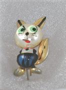 Spanish Cat Vintage Brooch