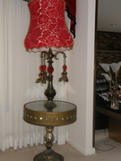 end table and light fixture