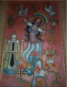 Indian theme on 100 sq ft painting