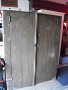 Primitive large brown jelly cupboard