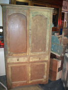 Old Brown Painted Jelly Cupboard