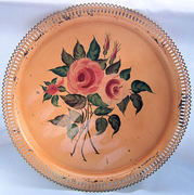 tole toleware hammond hand painted round tray