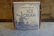 Blue and White Windmill Ice Cream Carton