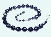 Black Glass Beads From Austria