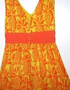 "1960s Vintage Maxi Dress ""Ruth Clarage"" Pineapple Print"