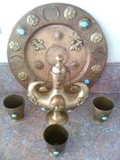 brass serving set