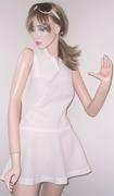 Vintage White Tennis Dress with Flirty Skirt