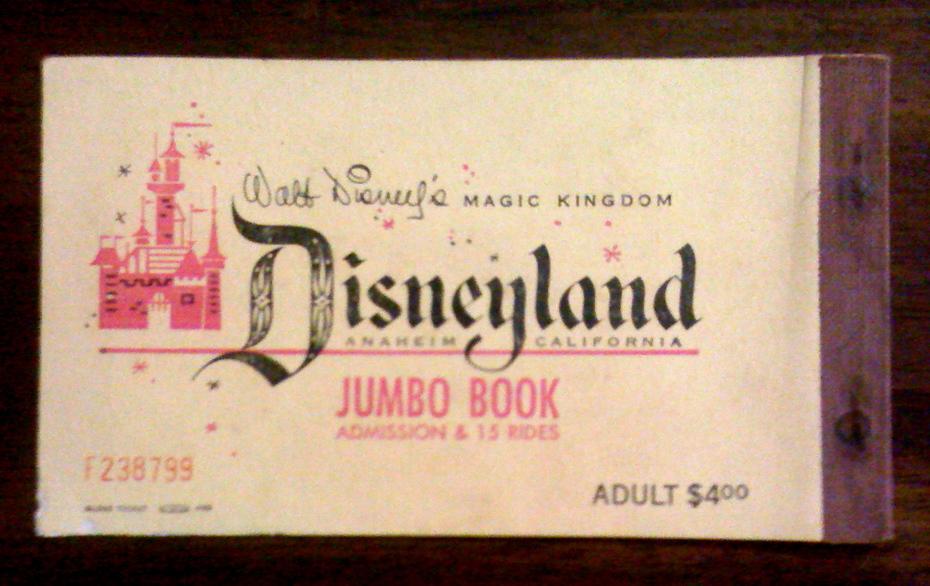 1957 Disneyland ticket book