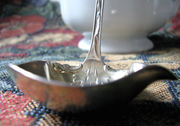 Baker Manchester Gold Wash Sterling Silver Spouted Cream Dipper