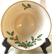 """Christmas Ivy"" Lenox 1970 Porcelain Holiday Serving Bowl"