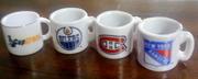 NHL hockey mini mugs