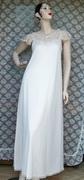 Vintage Ladies Beige Nightgown Vanity Fair Lingerie Negligee
