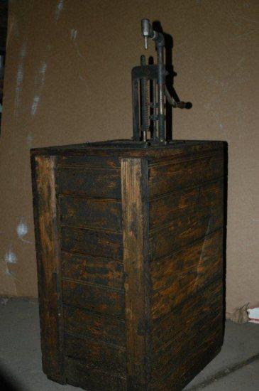 Vintage Wood Kerosene Container Pump