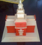 1940's standing coin bank - Independence Hall